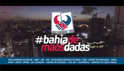 Com participação de Gilberto Gil, entidades e associações de classe da Bahia se unem na campanha #BahiaDeMãosDadas.