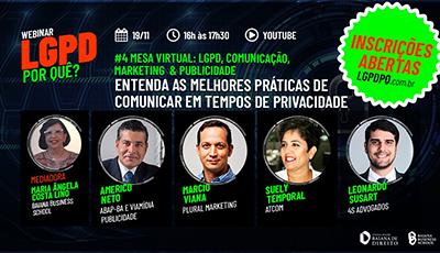 ABAP-BA participa de evento digital sobre LGDP